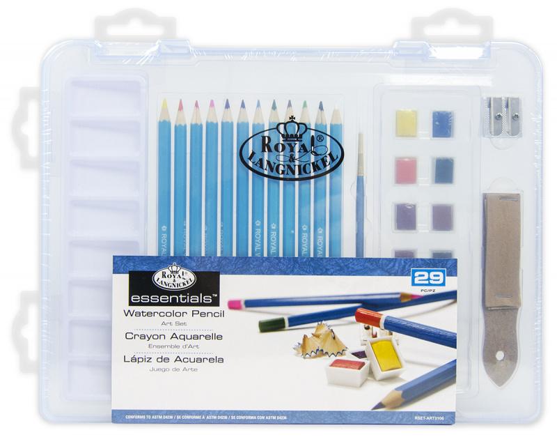 ROYAL and LANGNICKEL Sada akvarelových pastelek v plastovém boxu
