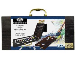 ROYAL and LANGNICKEL Set akrylových barev v dřevěném kufříku