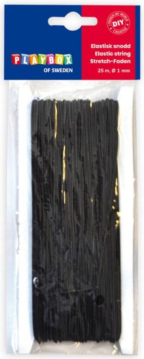 Gumička 25m x 1mm - černá