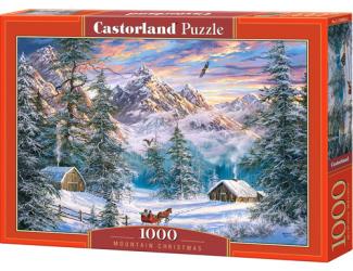 Puzzle Castorland 1000 dílků - Vánoční hory