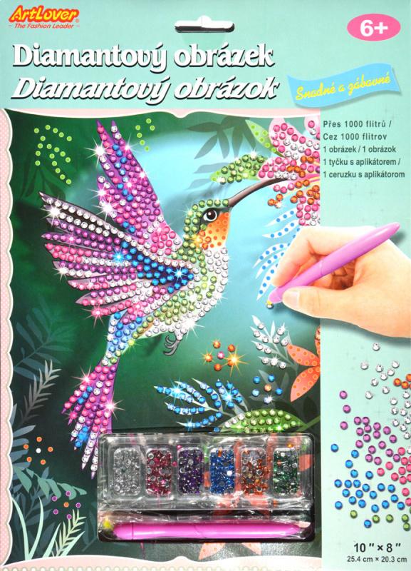 Diamantový obrázek - Kolibřík