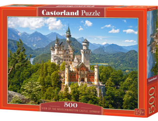 Puzzle Castorland 500 dílků - Výhled na Neuschwanstein, Německo
