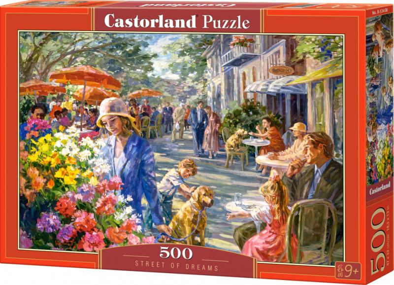 Puzzle Castorland 500 dílků - Ulice snů