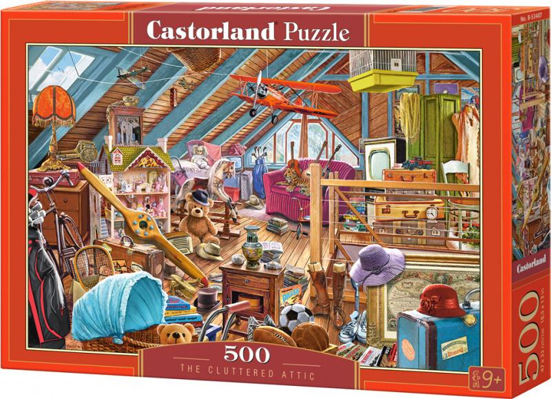 Puzzle Castorland 500 dílků - Přeplněná půda