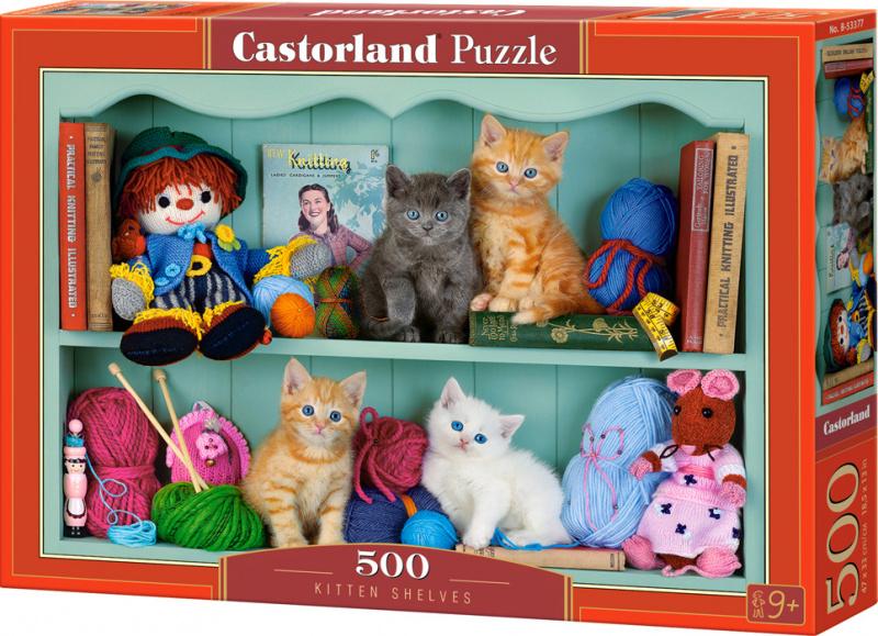 Puzzle Castorland 500 dílků - Kočičí polička