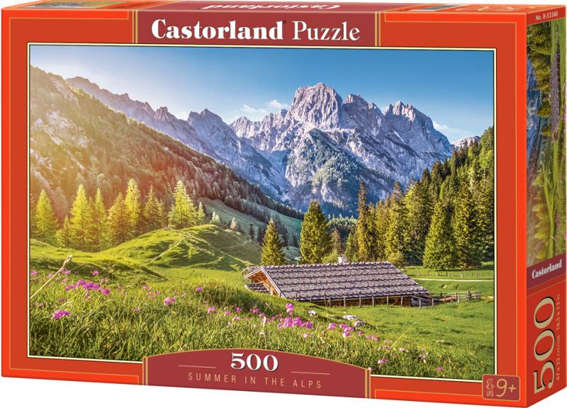 Puzzle Castorland 500 dílků - Léto v Alpách