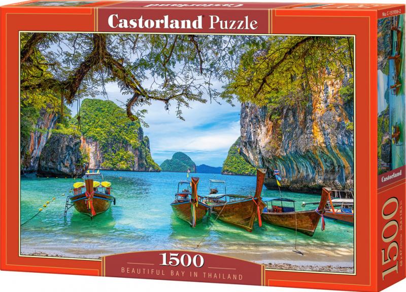 Puzzle Castorland 1500 dílků - Krásná zátoka v Thajsku