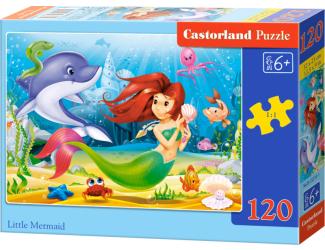 Puzzle Castorland 120 dílků - Malá mořská víla