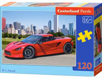 Puzzle Castorland 120 dílků - Sporťák červený K-1 Attack