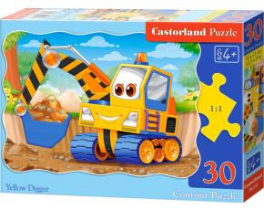 Puzzle Castorland 30 dílků - Žlutý bagr