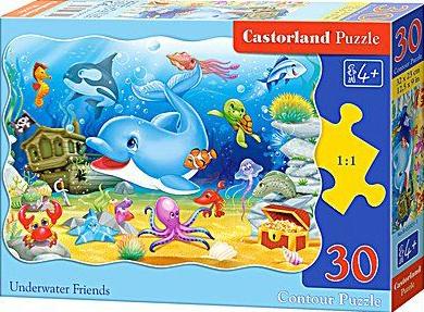 Puzzle Castorland 30 dílků - Delfín a jeho kamarádi