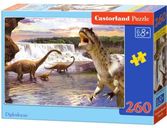 Puzzle Castorland 260 dílků - Diplodocus