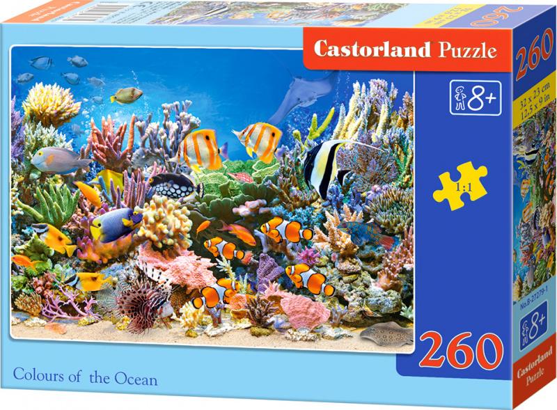 Puzzle Castorland 260 dílků - Ryby na korálovém útesu