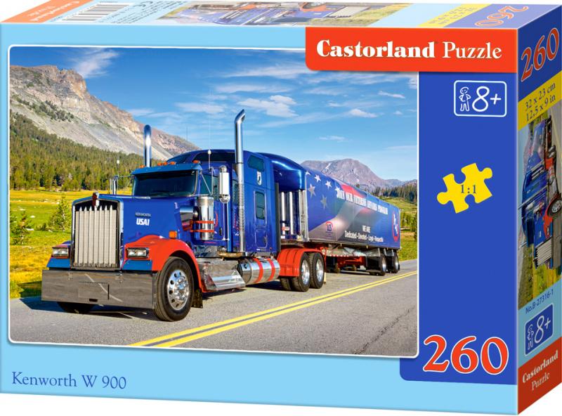 Puzzle Castorland 260 dílků - Kamion Kenworth W900