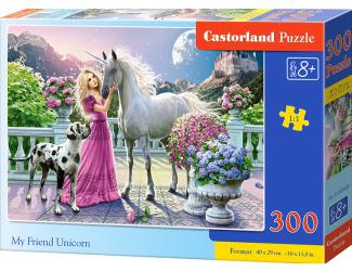 Puzzle 300 dílků- Můj přítel jednorožec