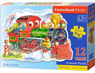 Puzzle Castorland Contour MAXI 12 dílků - Lokomotiva