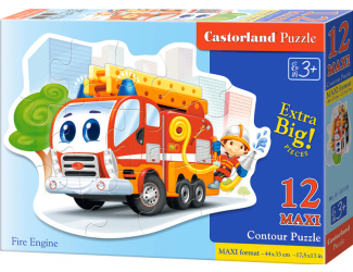 Puzzle Castorland Contour MAXI 12 dílků - Hasičské auto
