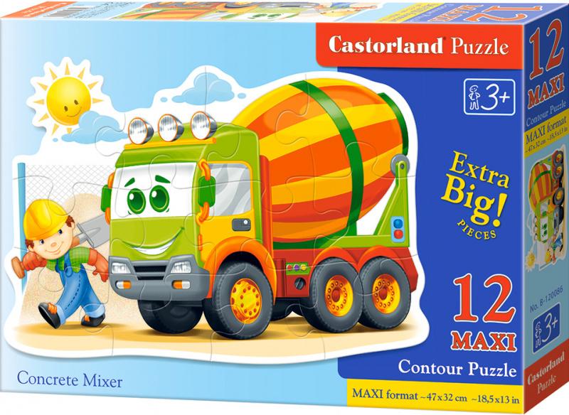 Puzzle Castorland Contour MAXI 12 dílků - Míchačka na staveništi