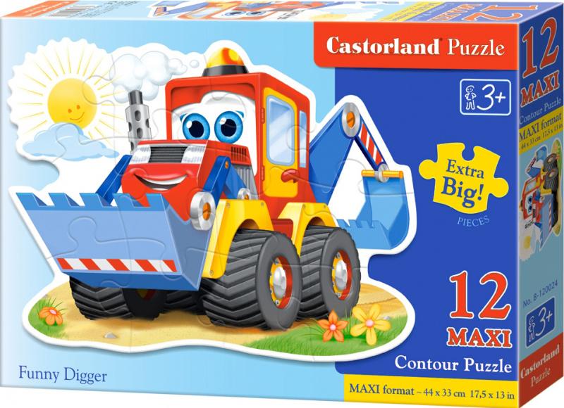 Puzzle Castorland Contour MAXI 12 dílků - Bagr