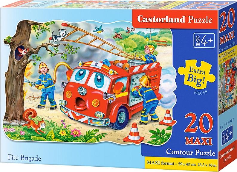 Puzzle Castorland MAXI 20 dílků - Hasiči