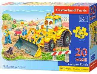 Puzzle Castorland MAXI 20 dílků - Bagr