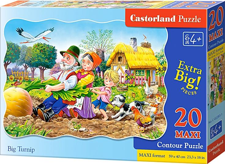 Puzzle Castorland MAXI 20 dílků - O veliké řepě
