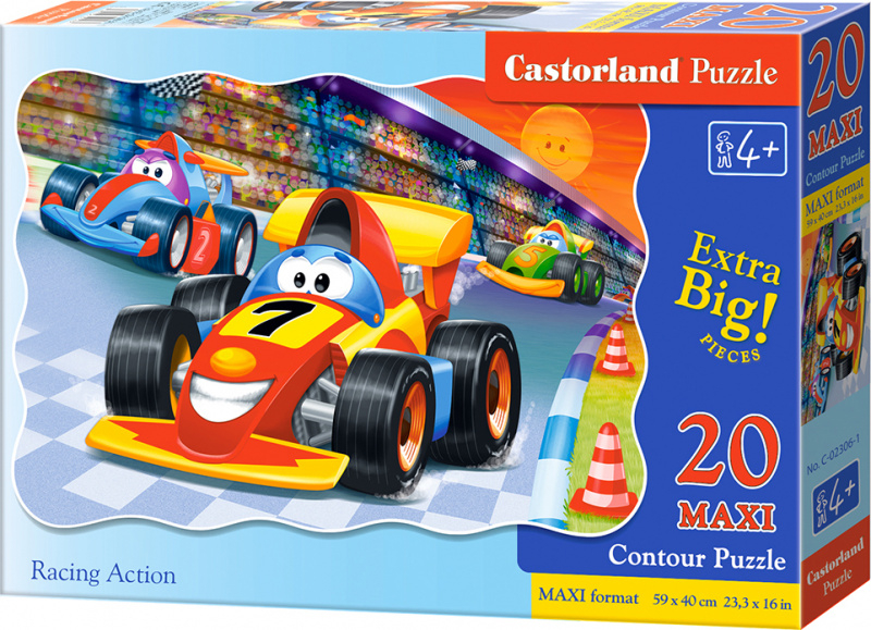 Puzzle Castorland MAXI 20 dílků - Závod formulí