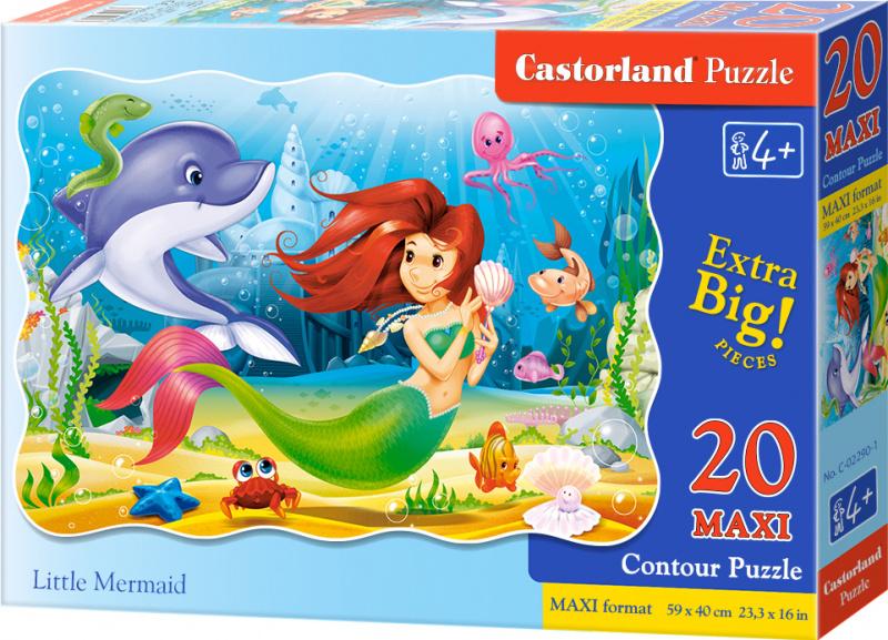 Puzzle Castorland MAXI 20 dílků - Malá mořská víla