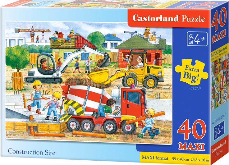 Puzzle Castorland MAXI 40 dílků - Stavba
