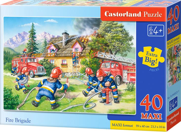 Puzzle Castorland MAXI 40 dílků - Hasiči