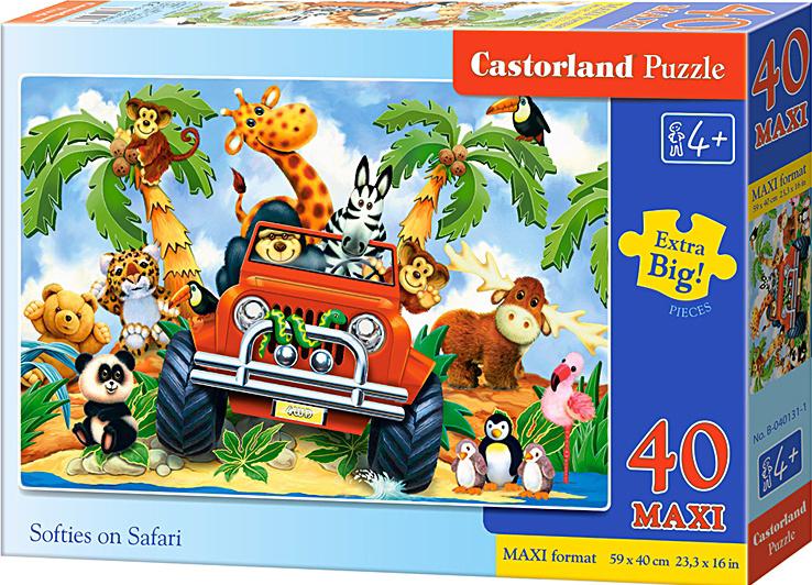 Puzzle Castorland MAXI 40 dílků - Safari v autě