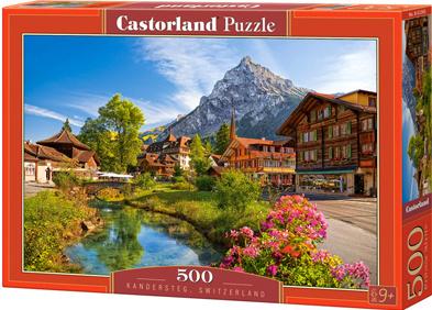 Puzzle Castorland 500 dílků - Kandersteg, Švýcarsko