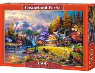 Puzzle Castorland 1500 dílků - Domeček s pozadím hor