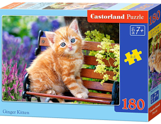 Puzzle Castorland 180 dílků - Kočka na lavičce