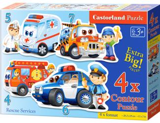 Puzzle Castorland sada 4v1 - Povolání 4,5,6 a 7 dílků- pro nejmenší děti