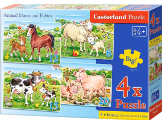 Puzzle Castorland sada 4v1 - Maminka a mláďátko