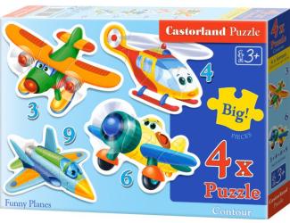 Puzzle Castorland sada 4v1mini - Letadla
