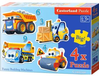 Puzzle Castorland sada 4v1mini - Doprava