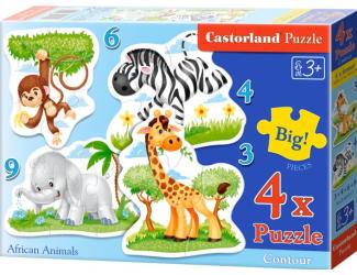 Puzzle Castorland sada 4v1mini - Safari