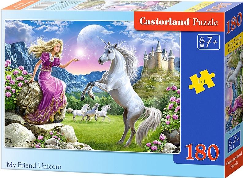Puzzle Castorland 180 dílků - Princezna s jednorožcem