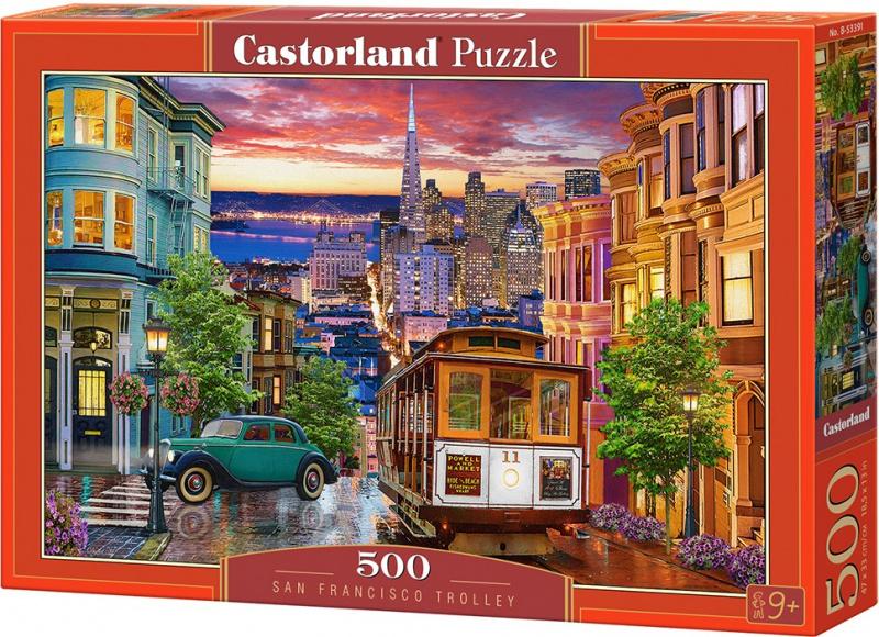 Puzzle Castorland 500 dílků - Tramvaj v San Franciscu