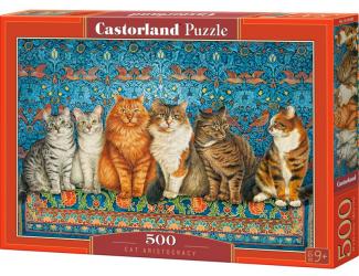 Puzzle Castorland 500 dílků - Kočičí aristokracie