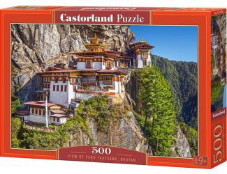 Puzzle Castorland 500 dílků - Výhled na Tygří Hnízdo, Bhútán