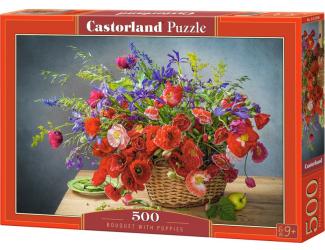 Puzzle Castorland 500 dílků - Maková kytice