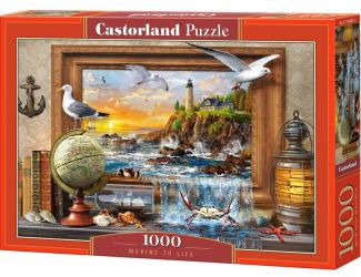 Puzzle Castorland 1000 dílků - Život v přístavu