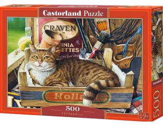 Puzzle Castorland 500 dílků - Kočka v krabici