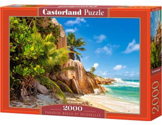 Puzzle Castorland 2000 dílků - Rajská pláž na Seychelles