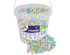 Zažehlovací korálky- 10 000 ks korálků- kbelík, pastelový mix