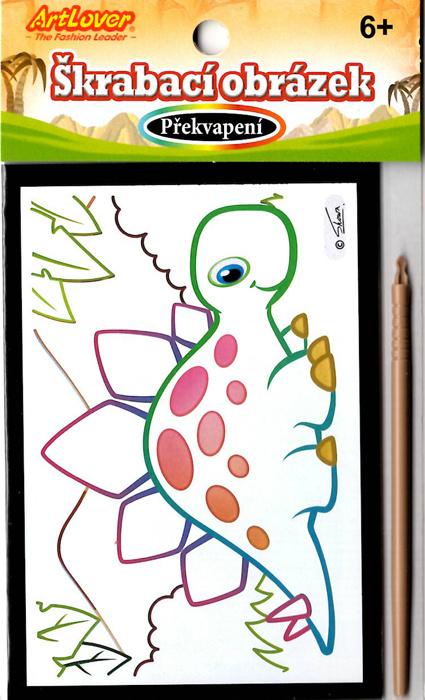 Škrabací obrázky- překvapení - Dino, v balení 36 ks, cena za kus 15 Kč