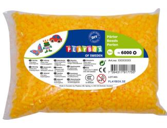 Zažehlovací korálky - 6 000 ks - žluté